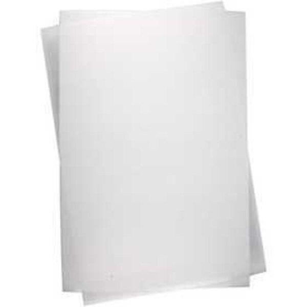 Feuilles de plastique thermorétractable, feuille 20x30 cm, transparent mat, 100flles