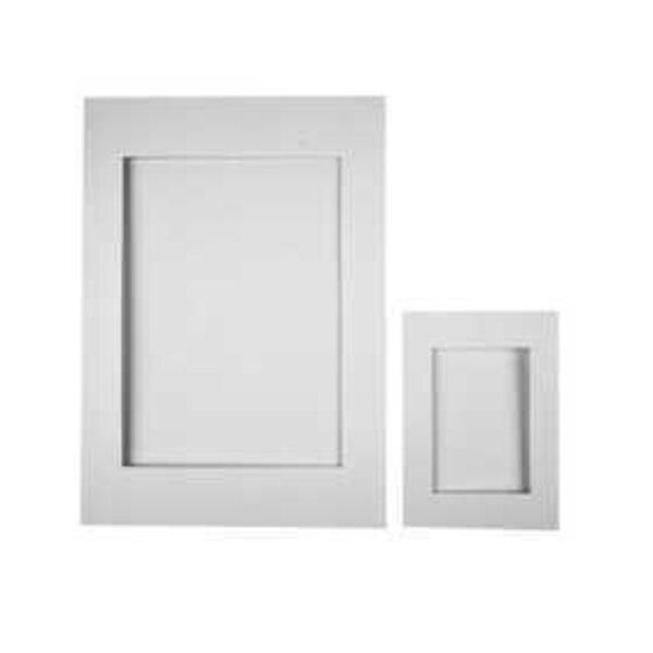 Cartes passe-partout, dim. A4+A6 , diamètre intérieur: 6,5x12,5+16x21 cm, blanc, 230 gr, 120assortis