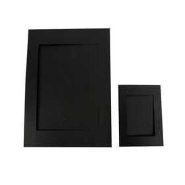 Cartes passe-partout, dim. A4+A6 , diamètre intérieur: 6,5x12,5+16x21 cm, noir, 180 gr, 120assortis