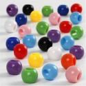Perles Pony, d: 8 mm, diamètre intérieur 4 mm, Couleurs assorties, 415 g, 700ml, env. 2280 pièce CC Hobby CCH-61833