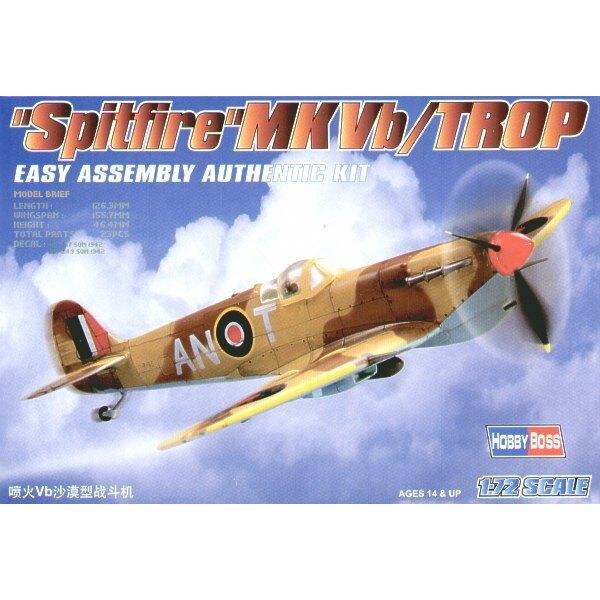 """Supermarine Spitfire Mk.Vb Trop Easy Build"""" Avec 1 pièce d'ailes et 1 pièce de fuselage. Les autres pièces sont normales. Option"""