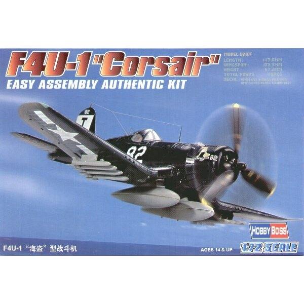 """Vought F4U-1 Corsair """"Easy Build"""" Avec 1 pièce d'ailes et 1 pièce de fuselage. Les autres pièces sont normales. Options pour avo"""