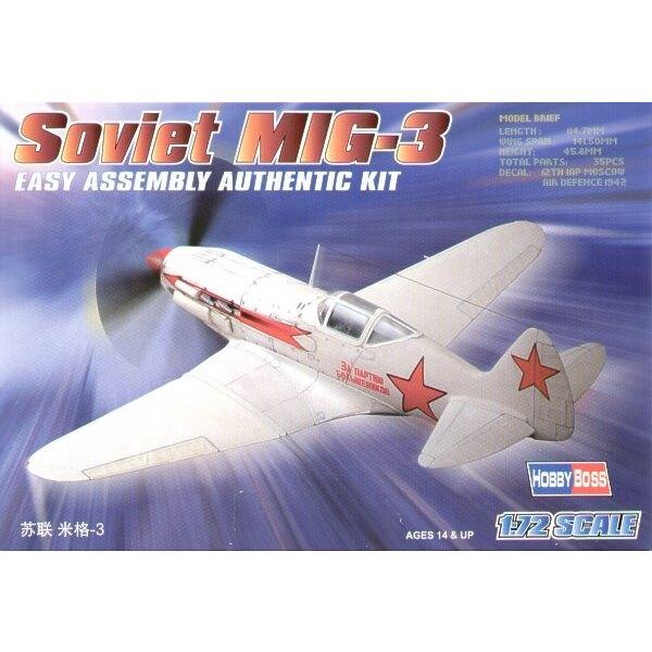 """Soviet Mikoyan MiG-3 """"Easy Build"""" Avec 1 pièce d'ailes et 1 pièce de fuselage. Les autres pièces sont normales. Options pour avo"""