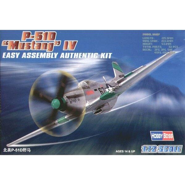 """North American P-51D Mustang IV """"Easy Build"""" Avec 1 pièce d'ailes et 1 pièce de fuselage. Les autres pièces sont normales. Optio"""