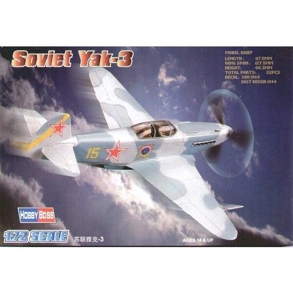 """Soviet Yakovlev Yak-3 Easy Build"""" Avec 1 pièce d'ailes et 1 pièce de fuselage. Les autres pièces sont normales. Options pour avo"""