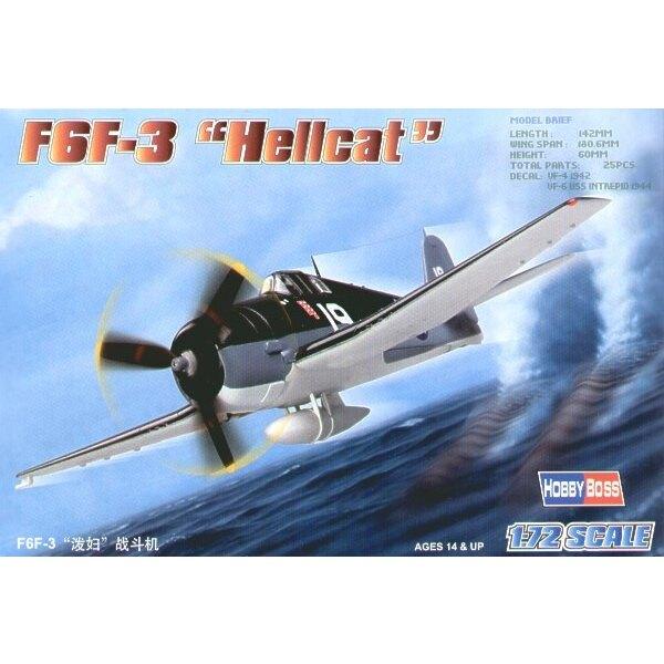 """Grumman F6F-3 Hellcat """"Easy Build"""" Avec 1 pièce d'ailes et 1 pièce de fuselage. Les autres pièces sont normales. Options pour av"""