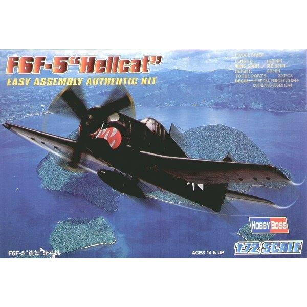"""Grumman F6F-5 Hellcat """"Easy Build"""" Avec 1 pièce d'ailes et 1 pièce de fuselage. Les autres pièces sont normales. Options pour av"""