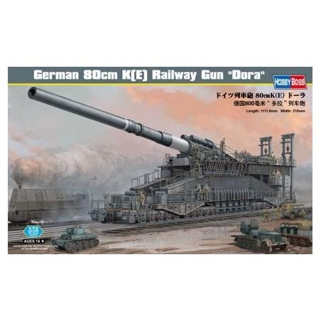 canon sur rail allemands 'Dora' 80 cm K (E)