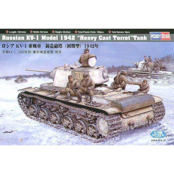 KV-1 russe à tourelle lourde moulée