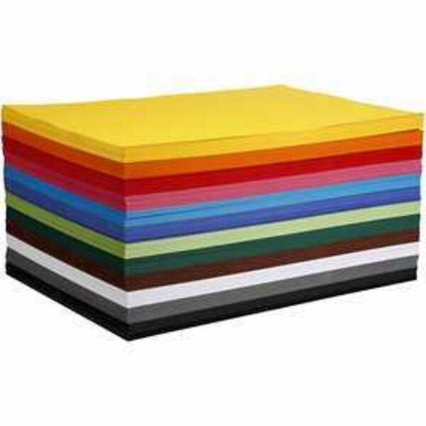 Papier cartonné coloré, A2 420x600 mm, 180 gr, 120flles. ass.