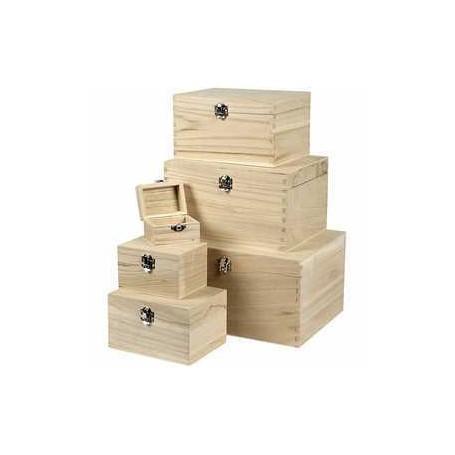 Set de boîtes en bois, paulownia, 6pièces CC Hobby CCH-57542