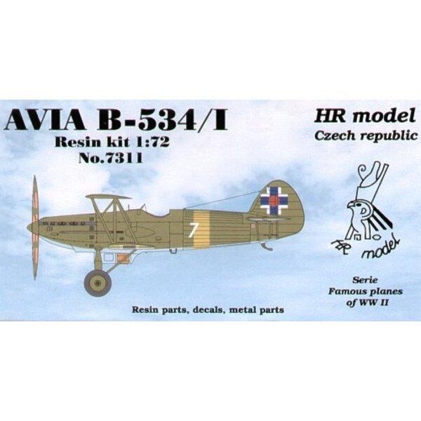 Avia B-534/I avec le cockpit ouvert. Décalques pour slovaques avec pièces photodécoupées.