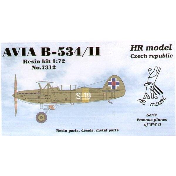 Avia B-534/II avec le cockpit fermé. Décalques Slovaques avec pièces photodécoupées.