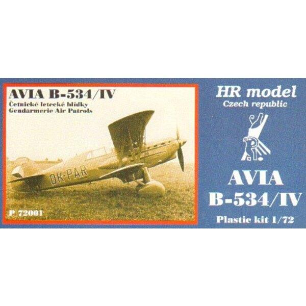 Avia B-534/IV avec des pièces photodécoupées Décalques Gendarme Air Patrols