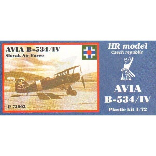 Avia B-534/IV inclut des pièces photodécoupées. Décalques aviation slovaque