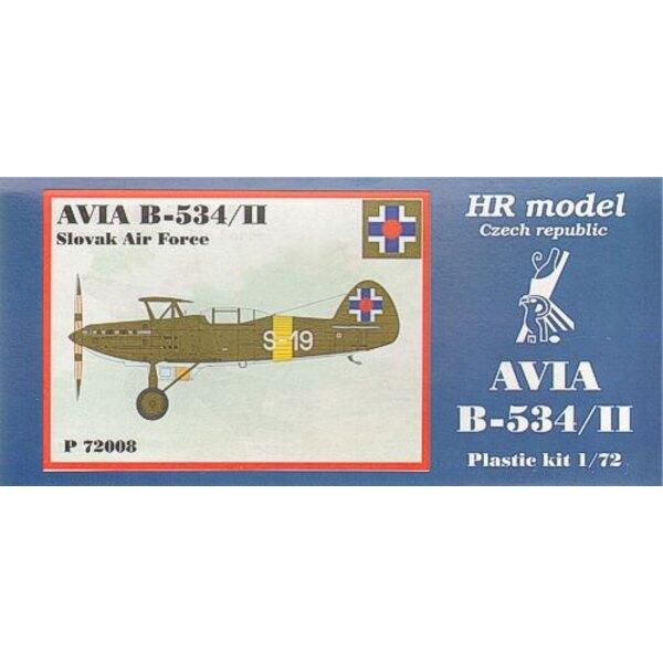 Avia B-534/II inclut des pièces photodécoupées. Décalques Slovaques