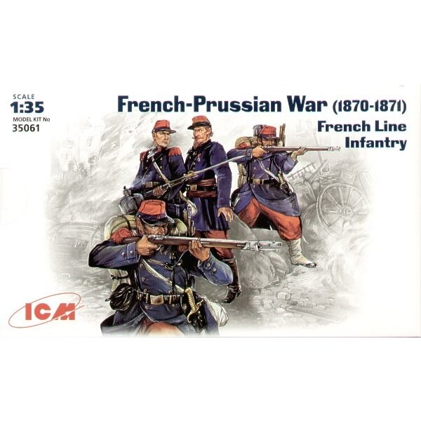 French-German war 1870-1871 French Line Infantry