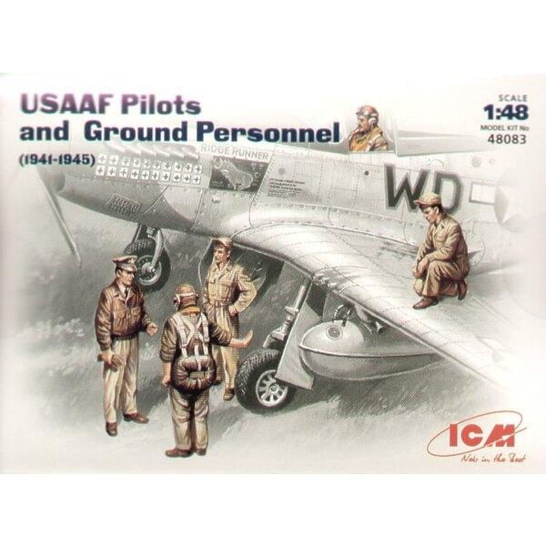 Figurines de pilotes/Personnel au sol de l'USAAF 1941/45