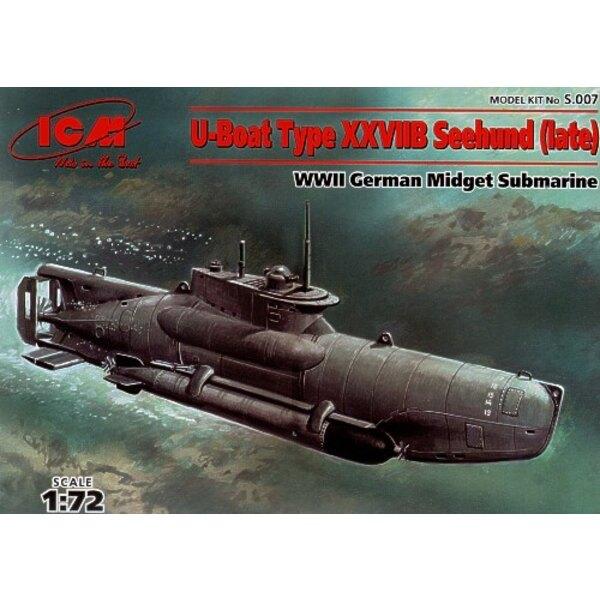 U-Boat Type XXVIIB Seehund late version midget submarine