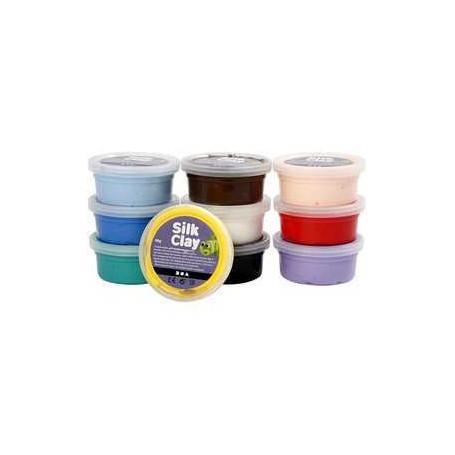 Silk Clay®, Couleurs assorties, Basique 1, 10x40gr Silk Clay CCH-79143