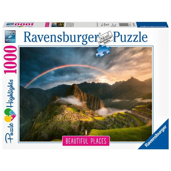 Puzzle Puzzle 1000 p - Arc-en-ciel sur le Machu Picchu, Pérou (Puzzle Highlights)