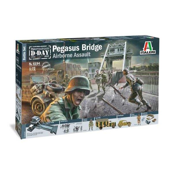 Pegasus Bridge Glider AssaultPegasus Bridge (MDF découpé au laser) Parachutistes britanniques Parachutistes allemands3 x canons