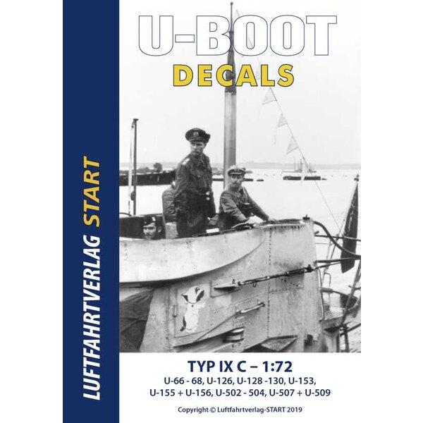 Feuille de décalcomanies de type IX C / 40 pour le nouveau kit de modèles Revell - premier sous-marin de type IX C, marine allem