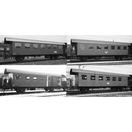 Set de 4 pièces: Wagon à côtes, ÖBB Roco-Fleischmann 74162