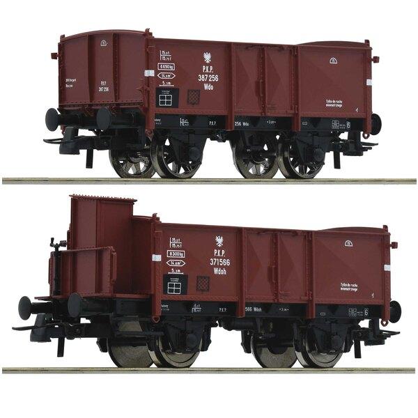 Set 2 pièces: Wagons de marchandises ouverts, PKP
