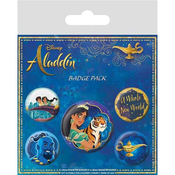 Aladdin pack 5 badges A Whole New World