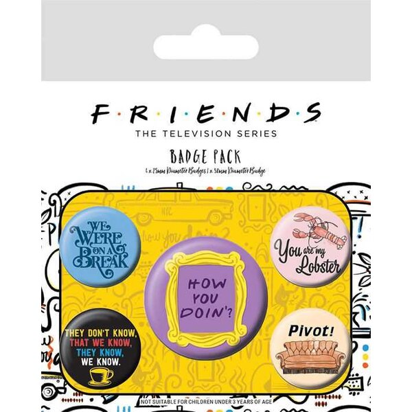 Friends pack 5 badges Quotes
