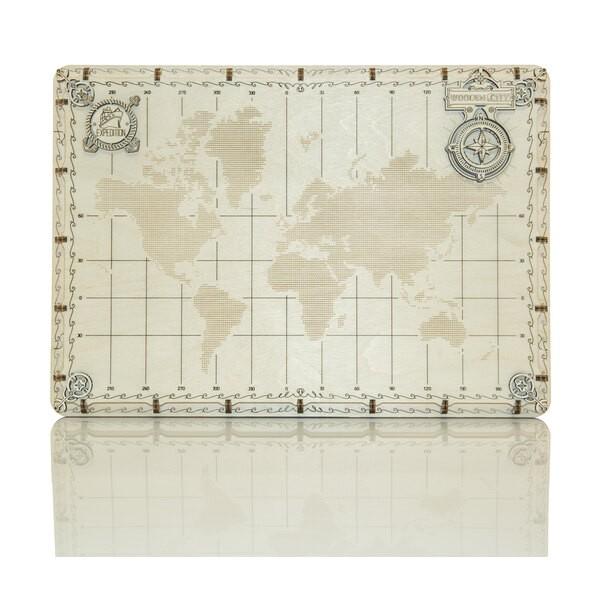 Carte du monde expédition série de point