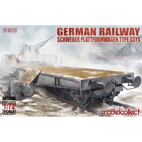 Chemins de fer allemands Schwerer Plattformwagen Type ssys 1 + 1 pack