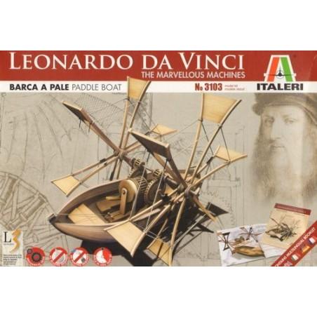Bateau à pédales de Léonard De Vinci - Les Machines Merveilleuses Italeri IT3103