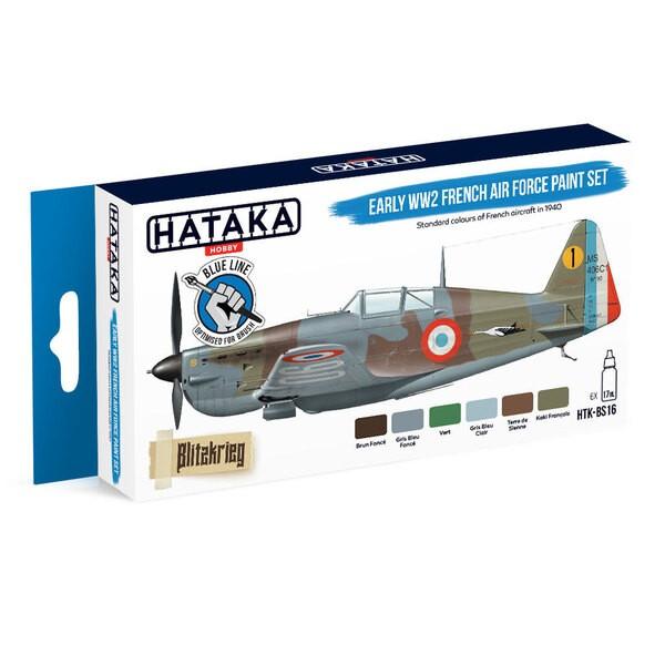 Blue Line Set (6 pcs) Ensemble de peinture de la première guerre mondiale de l'armée de l'air française HATAKA 5902210160