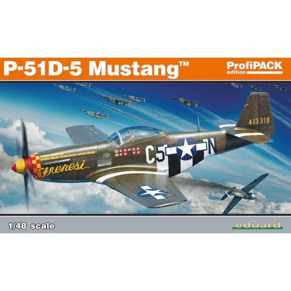 Kit nord-américain Mustang ProfiPACK P-51D-5 édition de l'avion de chasse américain P-51D-5 de la Seconde Guerre mondiale à l'éc