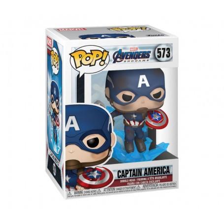 Avengers: Endgame POP! Movies Vinyl figurine Captain America w/Broken Shield & Mjölnir 9 cm