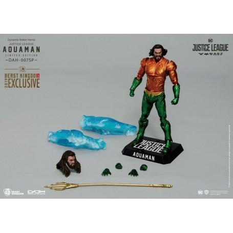 Figurine Justice League Dynamic Action Heroes 1/9 Aquaman SDCC 2019 Exclusif 20 cm