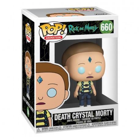 Figurine Rick et Morty POP!Morty d'animation vinyle cristal mort 9 cm