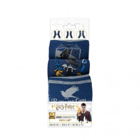 Harry Potter pack 3 paires de chaussettes Serdaigle Cinereplicas HPE60272
