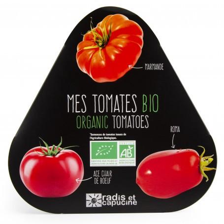 Plateau triop pots zinc tomates Radis et Capucine RAD-36971