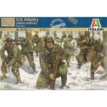 Infanterie US de la 2ème GM (en uniforme d'hiver)