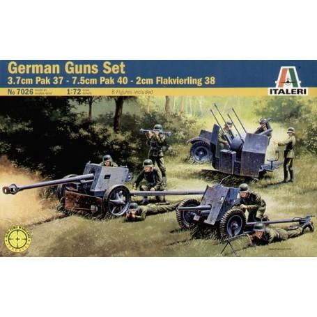 3.7 Pak 37/7.5cm Pak 40/2cm Flakvierling 38