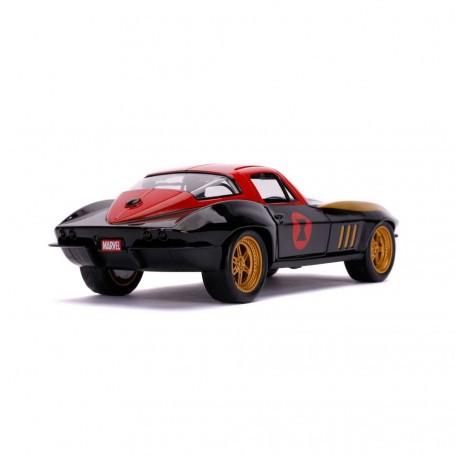 Marvel Avengers 1/24 Hollywood Rides 1966 Chevy Corvette métal avec figurine Jada Toys JADA31749