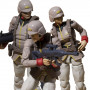 Mobile Suit Gundam pack 3 figurines G.M.G. Earth Federation Army Soldiers 10 cm