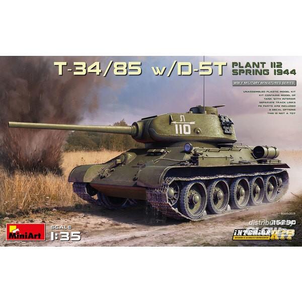 T-34/85 avec D-5T. USINE 112. PRINTEMPS 1944. KIT INTÉRIEUR Mini Art 6465290