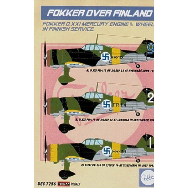 Fokker over Finland. Fokker D.XXI Mercury Engine and Wheels in Finnish Service