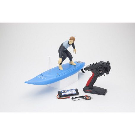 Kyosho RC Surfer 4 RC Electric Readyset (KT231P+) T1 Bleu