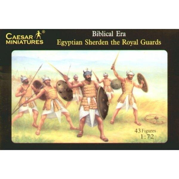 Guerriers Sherden égyptiens et Garde Royale