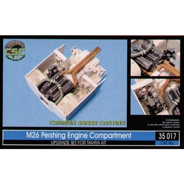 compartiment de moteur de M26 Pershing (pour maquettes Tamiya)